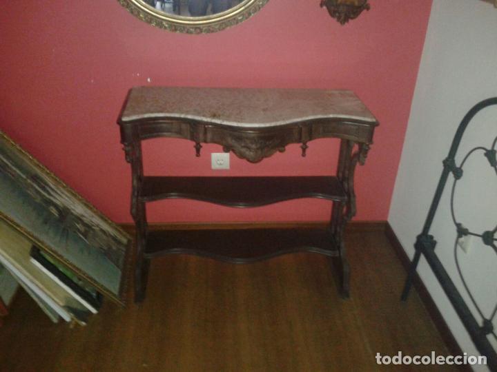 Antigüedades: consola con mármol - Foto 3 - 31459219
