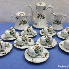 Antigüedades: JUEGO ANTIGUO DE CAFE PORCELANA SIGLO XIX. Lote 83843820