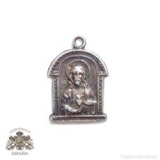 Antigüedades: ANTIGUA MEDALLA EN PLATA CORAZÓN DE JESUS. Lote 83852424