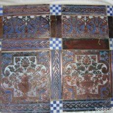 Antigüedades: COMPOSICION DE AZULEJOS RAMOS REJANO. Lote 83873020