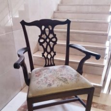 Antigüedades: PRECIOSA SILLA CHEAPANDDALE DE CAOBA. Lote 83910632