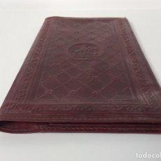 Antigüedades: ANTIGUA Y BONITA FUNDA EN PIEL PARA RECIBOS Y POLIZAS (PARA GUARDAR LA DOCUMENTACIÓN). Lote 83918156