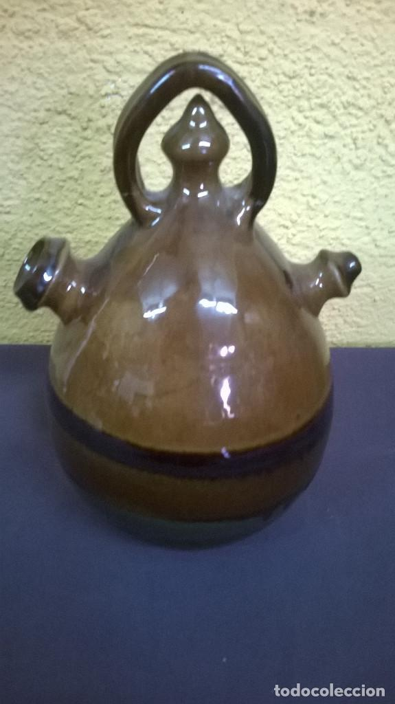 CANTIR /BOTIJO FIERMADO POR CARLES SALA (Antigüedades - Porcelanas y Cerámicas - La Bisbal)