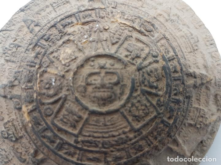 Antigüedades: Antiguo calendario azteca hecho en terracota. - Foto 3 - 84006656