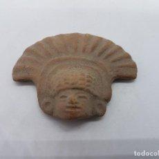 Antigüedades: ANTIGUA IMAGEN DE EUMETER DIOS DEL VIENTO AZTECA EN TERRACOTA.. Lote 84008036