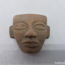 Antigüedades: ANTIGUA IMAGEN DE MÁSCAR TEOTIHUACANA DE CULTURA AZTECA EN TERRACOTA.. Lote 84011528
