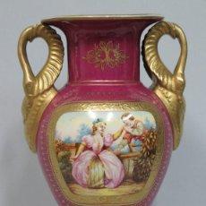 Antigüedades: ANTIGUO JARRON IMPERIO DE PORCELANA FRANCES. SIGLO XIX. BUEN ESTADO. Lote 84035792