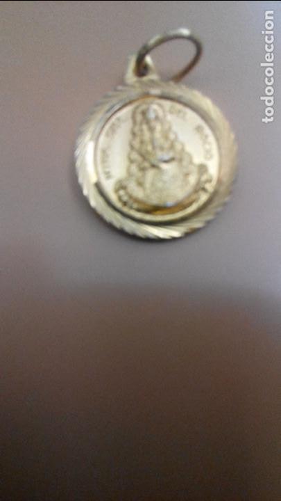 PEQUEÑA MEDALLA DEL ROCIO DORADA (Antigüedades - Religiosas - Medallas Antiguas)
