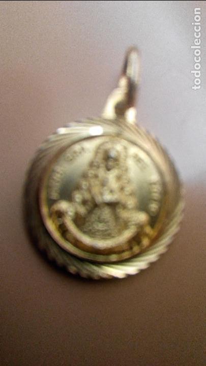 Antigüedades: PEQUEÑA MEDALLA DEL ROCIO DORADA - Foto 4 - 84036360