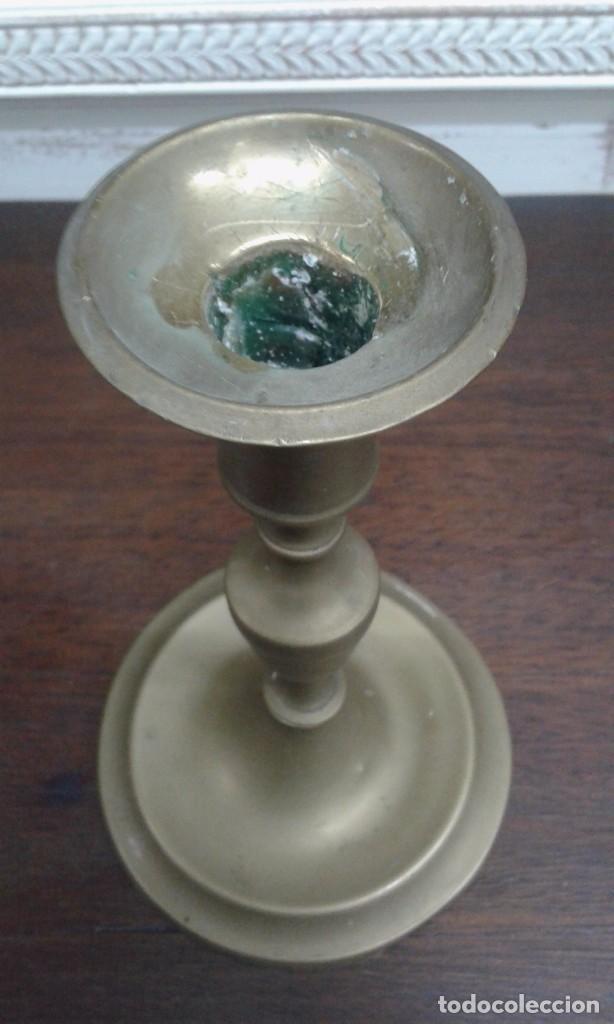 Antigüedades: CANDELABRO DE BRONCE SIGLO XIX - Foto 2 - 84088800