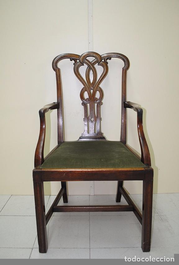 sillón antiguo de estilo victoriano de nogal - Comprar Sillones ...