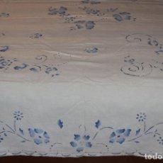 Antigüedades: COLCHA DE ALGODÓN ESTARCIDO . Lote 84139508
