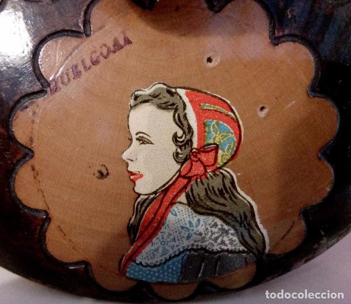 Antigüedades: CAJA - JOYERO HOLANDESA EN MADERA DE HAYA PINTADA A MANO Y FIRMADA. - Foto 4 - 84144832