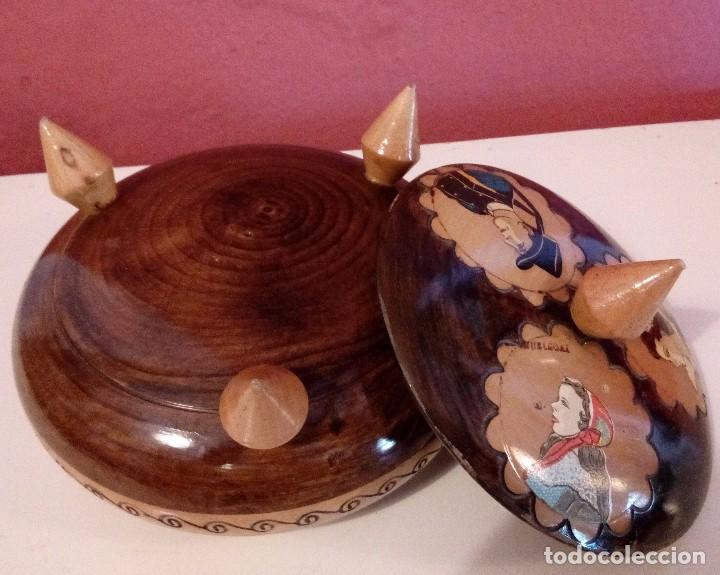 Antigüedades: CAJA - JOYERO HOLANDESA EN MADERA DE HAYA PINTADA A MANO Y FIRMADA. - Foto 8 - 84144832