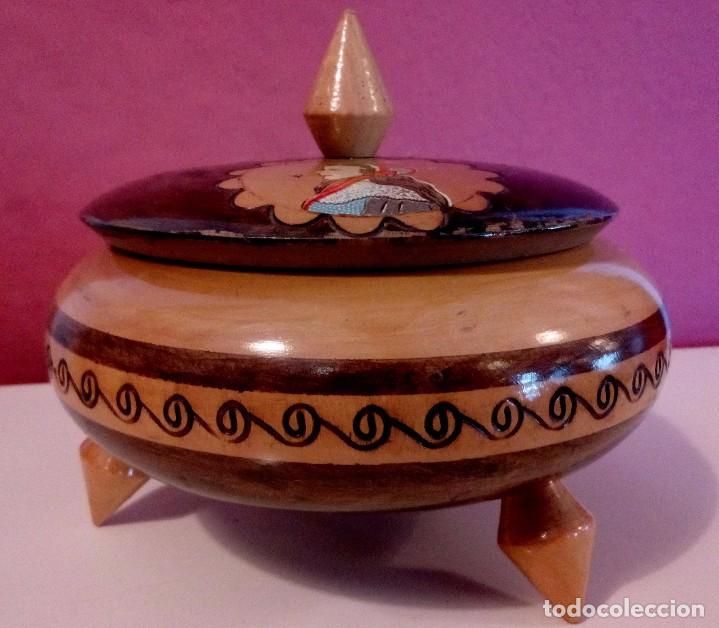Antigüedades: CAJA - JOYERO HOLANDESA EN MADERA DE HAYA PINTADA A MANO Y FIRMADA. - Foto 9 - 84144832
