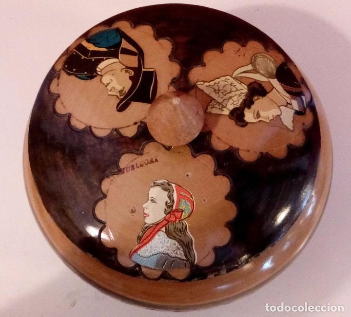 Antigüedades: CAJA - JOYERO HOLANDESA EN MADERA DE HAYA PINTADA A MANO Y FIRMADA. - Foto 10 - 84144832