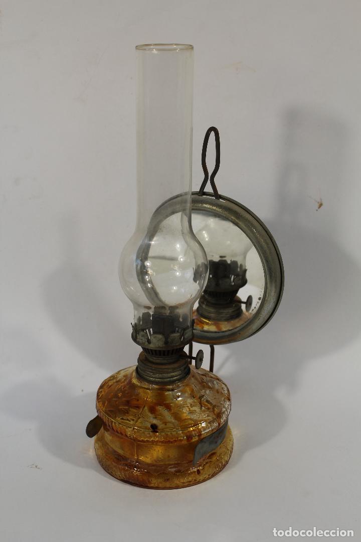 Antigüedades: quinqué en cristal - Foto 3 - 84147084