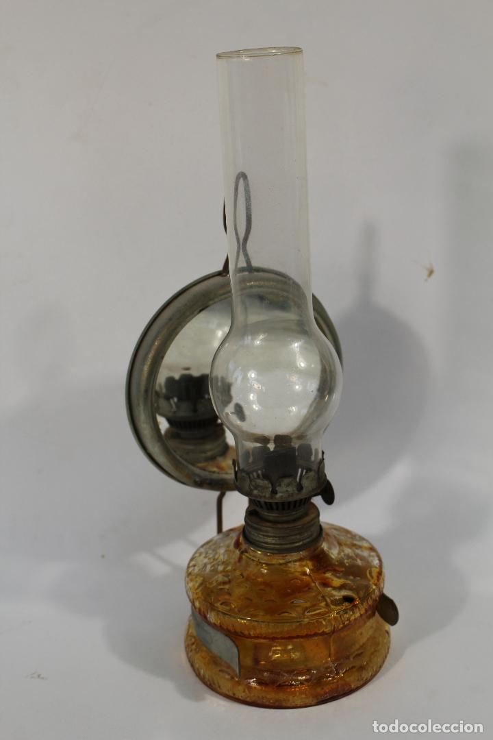 Antigüedades: quinqué en cristal - Foto 4 - 84147084