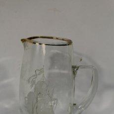 Antigüedades: JARRA DE CRISTAL CON BARCO. Lote 84147264