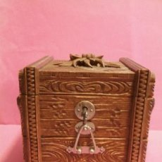 Antigüedades: JOYERO MADERA TALLADA SELVA NEGRA.. Lote 84147756