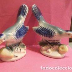 Antigüedades: PAREJA DE PAJAROS SUJETA LIBROS . Lote 84147980