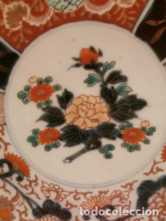Antigüedades: Plato porcelana Japonesa IMARI ( KUTANI s. XIX ) - Foto 3 - 84150116