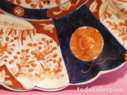 Antigüedades: Plato porcelana Japonesa IMARI ( KUTANI s. XIX ) - Foto 3 - 84150292