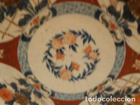 Antigüedades: Plato porcelana Japonesa IMARI ( KUTANI s. XIX ) - Foto 8 - 84150496