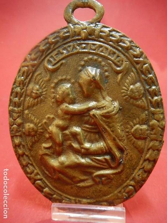 Antigüedades: Placa de bronce. Escena religiosa. Siglo XVIII, o anterior. - Foto 5 - 84151988