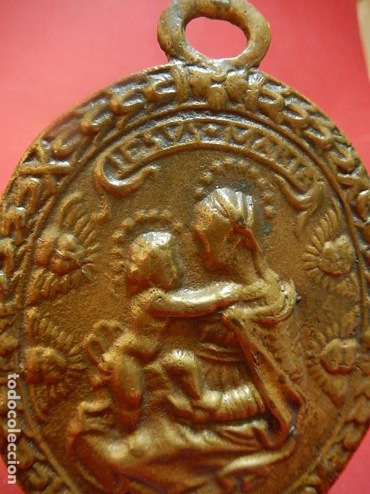 Antigüedades: Placa de bronce. Escena religiosa. Siglo XVIII, o anterior. - Foto 9 - 84151988