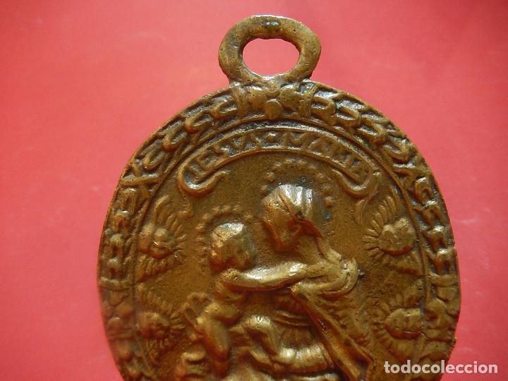 Antigüedades: Placa de bronce. Escena religiosa. Siglo XVIII, o anterior. - Foto 12 - 84151988