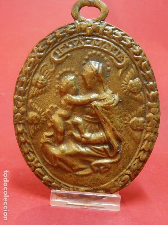 Antigüedades: Placa de bronce. Escena religiosa. Siglo XVIII, o anterior. - Foto 14 - 84151988