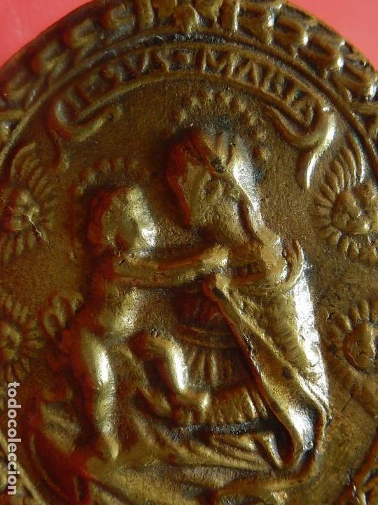 Antigüedades: Placa de bronce. Escena religiosa. Siglo XVIII, o anterior. - Foto 17 - 84151988