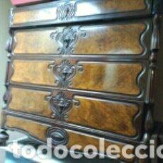 Antigüedades: CALAIXERA CAOBA DITADA. Lote 84156391
