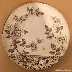 Antigüedades: PLATO PORCELANA - 1885 - ALBERT PATTERN - AESTHETIC MOVEMENT - ESTETICISMO - 24 CM.. Lote 84163964