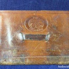 Antigüedades: CARTERA PIEL CUERO DE MANO RECUERDO EXPOSICIÓN UNIVERSAL BARCELONA 1929 11,5X16,5CMS. Lote 84177268