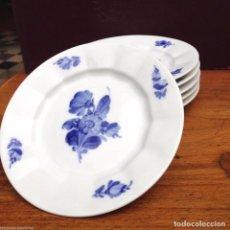 Antiquitäten - 6 platos para pan o mantequilla de la ROYAL COPENHAGEN flores azules modelo 10/8553 - 84182516
