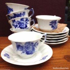 Antiquitäten - 6 tazas con su platos de la ROYAL COPENHAGEN flores azules modelo 10/8500 - 84183564