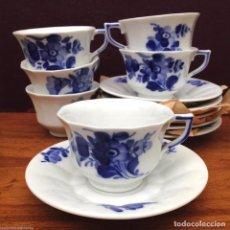 Antiquitäten - 6 tazas con su platos de la ROYAL COPENHAGEN flores azules modelo 10/8562 - 84183808