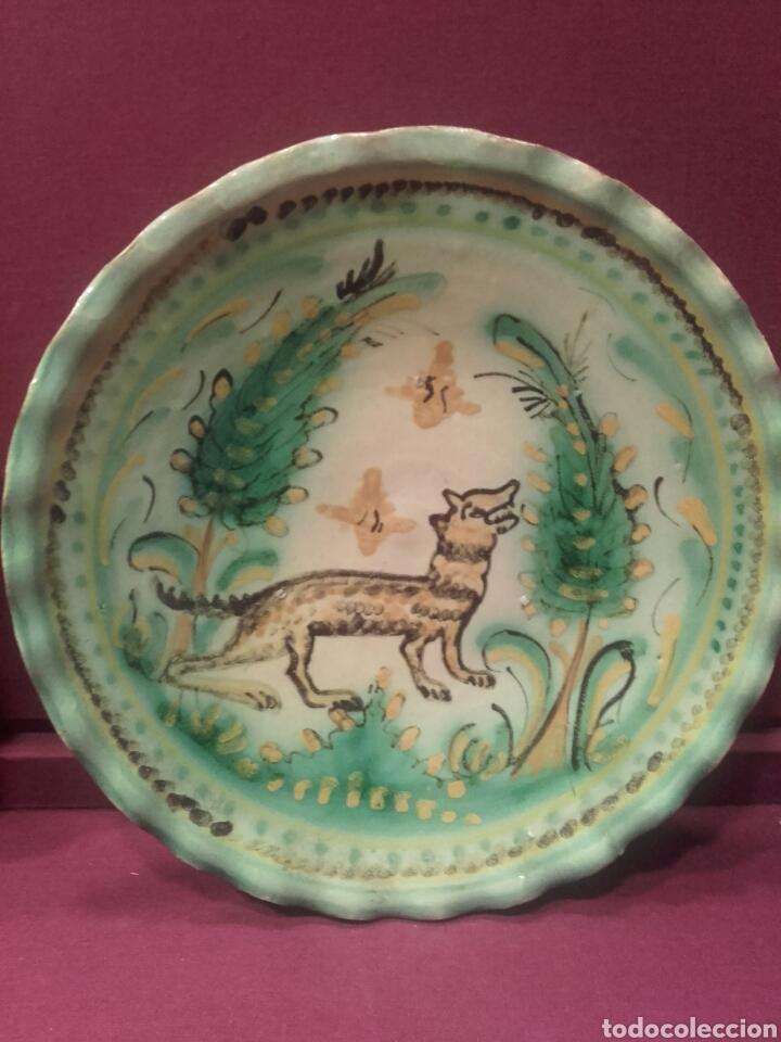 Antigüedades: Pareja de platos de Puente del Arzobispo. - Foto 2 - 84186095