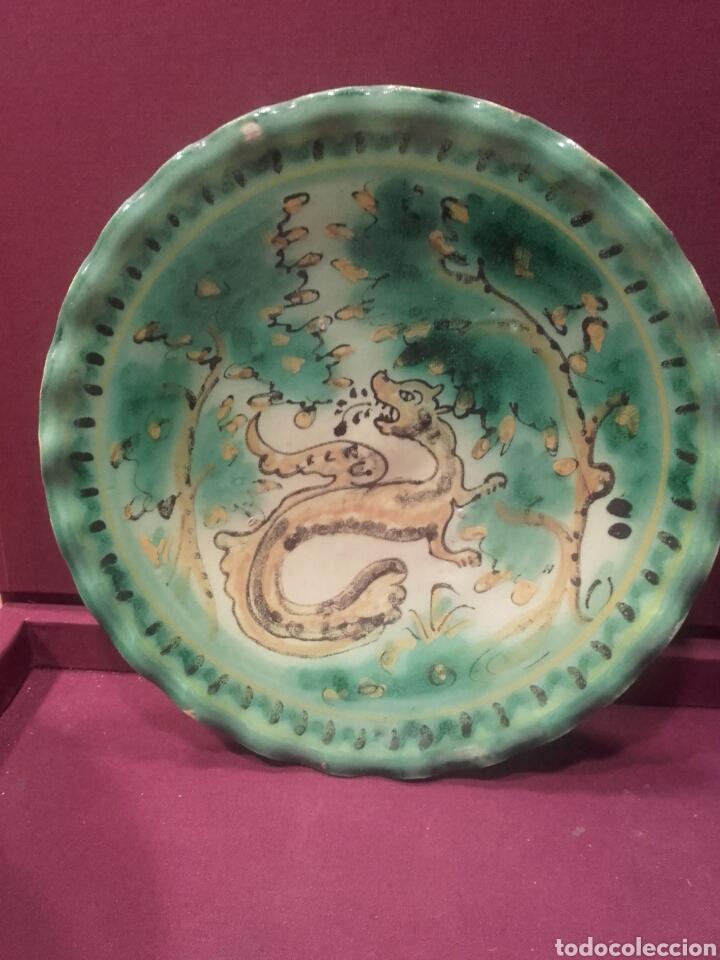 Antigüedades: Pareja de platos de Puente del Arzobispo. - Foto 3 - 84186095