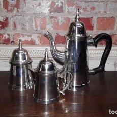 Antigüedades: JUEGO DE CAFE PLATEADO. Lote 84210396