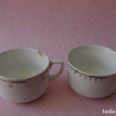 Antigüedades: LOTE LIQUIDACIÓN 2 TAZAS DE CAFE IT SANTANDER / LOT OF 2 IT SANTANDER COFFEE CUPS. Lote 84220092