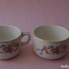 Antigüedades: LOTE DE 2 TAZAS DE CAFE SAN CLAUDIO / LOT OF 2 SAN CLAUDIO COFFEE CUPS. Lote 84220912