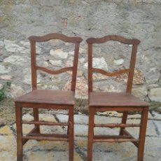 Antigüedades: PAREJA DE SILLAS, ANTIGUAS.. Lote 84274788