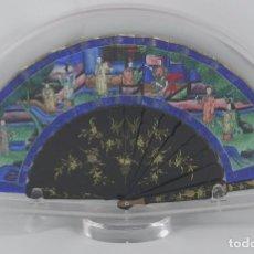 Antigüedades: ANTIGUO ABANICO CHINO DE LAS 1000 CARAS DE MARFIL. SIGLO XIX. CONTIENE 15 CARAS DE MARFIL, COMPLETO . Lote 84294064