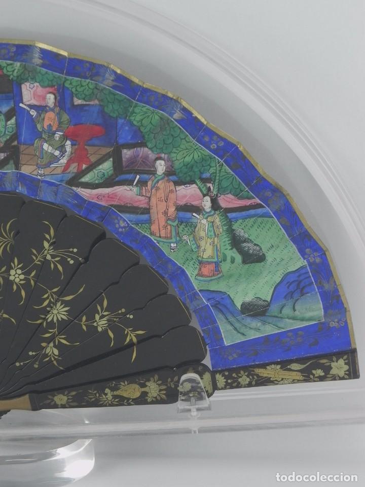 Antigüedades: Antiguo Abanico Chino de las 1000 caras de marfil. Siglo XIX. De FILIPINAS, Contiene 15 caras de mar - Foto 2 - 84294064