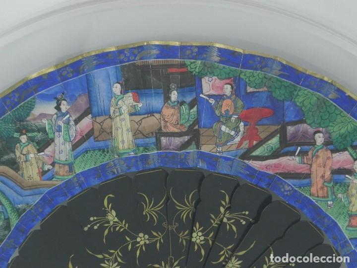 Antigüedades: Antiguo Abanico Chino de las 1000 caras de marfil. Siglo XIX. De FILIPINAS, Contiene 15 caras de mar - Foto 3 - 84294064