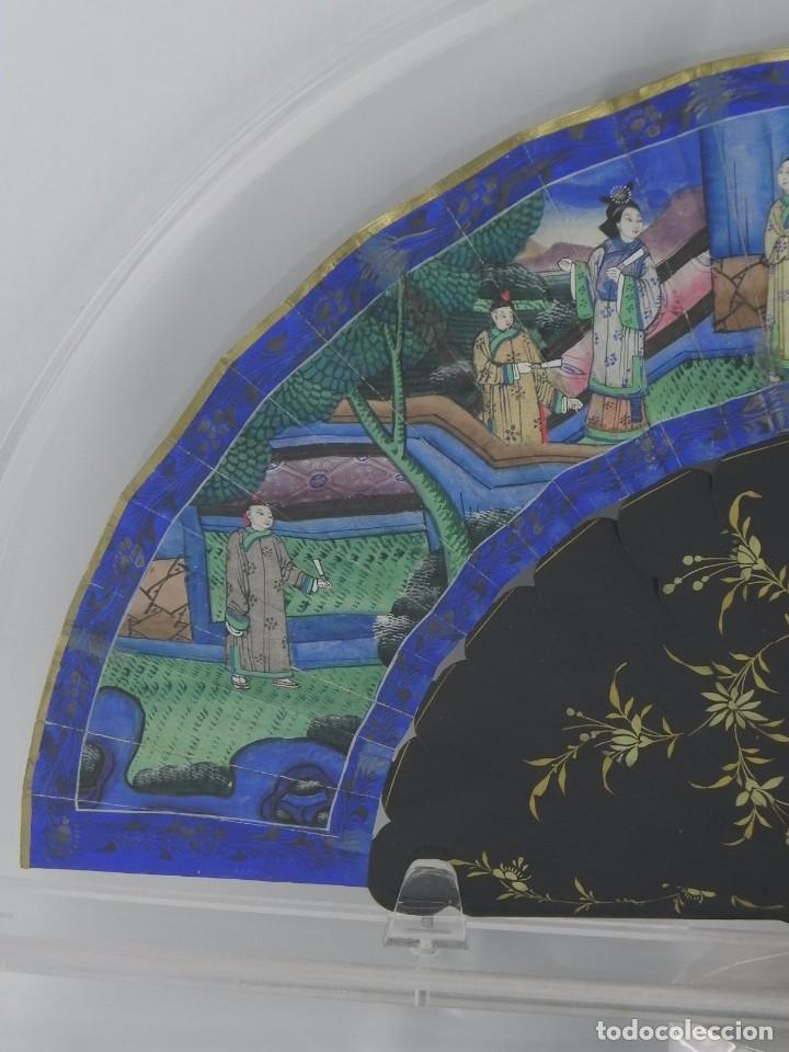 Antigüedades: Antiguo Abanico Chino de las 1000 caras de marfil. Siglo XIX. De FILIPINAS, Contiene 15 caras de mar - Foto 5 - 84294064