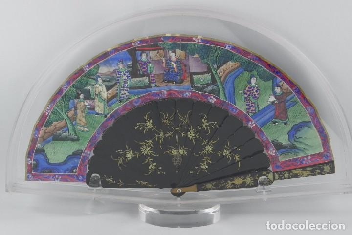 Antigüedades: Antiguo Abanico Chino de las 1000 caras de marfil. Siglo XIX. De FILIPINAS, Contiene 15 caras de mar - Foto 6 - 84294064